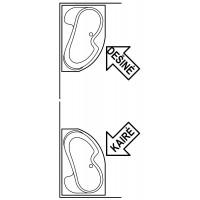 Akrilinė asimetriška vonia Ravak Rosa I, 140x105 cm, kairinė