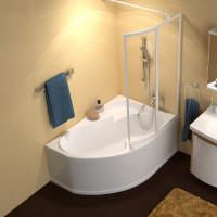 Akrilinė asimetriška vonia Ravak Rosa I, 160x105 cm, dešininė