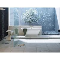 Akmens masės vonia Vispool Nordica, su paslėptomis kojytėmis, 170x75 balta