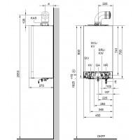 Dujinis kondensacinis katilas Viessmann Vitodens 200-W, 13 kW, vandens ruošimas atskirame šildytuve