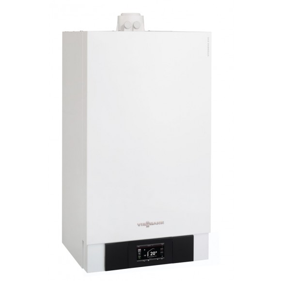 Dujinis kondensacinis katilas Viessmann Vitodens 200-W, 26 kW, vandens ruošimas atskirame šildytuve