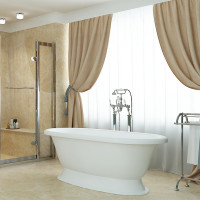 Akmens masės vonia Vispool Micanto, balta