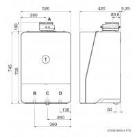 Dujinis kondensacinis katilas Bosch Condens, GC 9000iW, 30E, vandens ruošimas atskirame šildytuve, baltas
