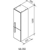 Aukšta spintelė Ravak SB Chrome 350, R balta/balta