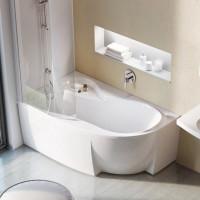 Akrilinė asimetriška vonia Ravak Rosa 95, 160x95 L