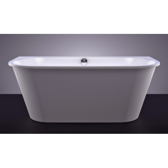 Akmens masės vonia Vispool Evento, 175x75 cm apvalinti du kampai balta