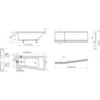 Akrilinė vonia Ravak BeHappy II, 170x75, dešininė