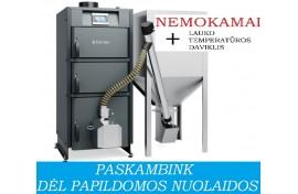 Granulinis katilas Kamen PELLET KOMPAKT 34 (34 kW, su automatiniu užkūrimu)