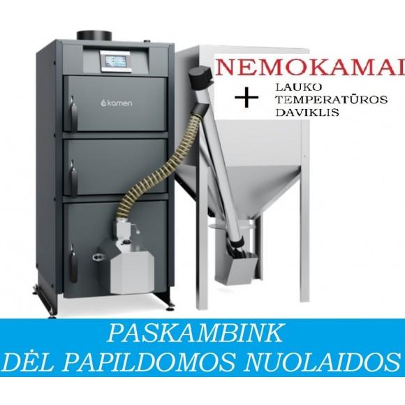 Granulinis katilas Kamen PELLET KOMPAKT 17 (17 kW, su automatiniu užkūrimu)