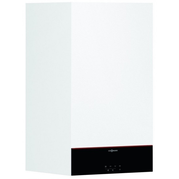 Dujinis katilas VIESSMANN Vitodens 100-W šildymui, galima prijungti vandens šildytuvą (32 kW)
