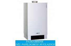 Dujinis katilas VIESSMANN Vitodens 200-W šildymui, galima prijungti vandens šildytuvą (25 kW)